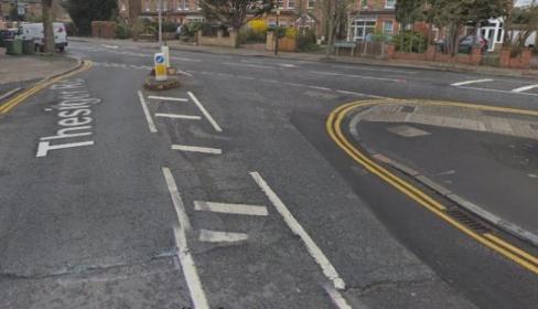 Horrific car accident – car overturns Beckenham