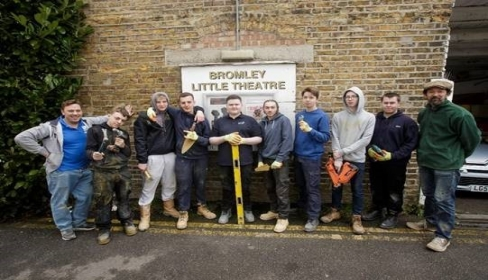 Bromley Little Theatre makeover by young volunteers in DIY community project