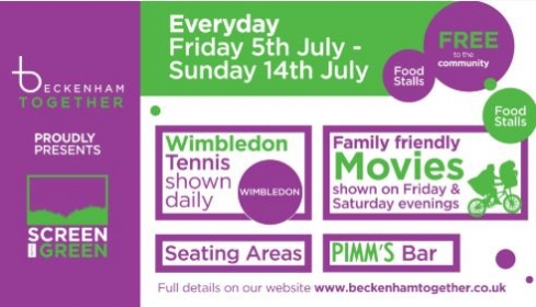 Screen on the Green is set to entertain and engage the Beckenham community for a two week period between Friday 5th – Sunday 14th July