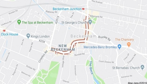 Major road works at Elmers End from July to September 2019 – changes to traffic flow